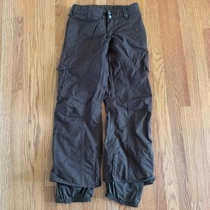 Burton women's stow cargo pants brown xs ski/board